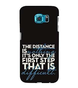 Fuson Designer Back Case Cover for Samsung Galaxy S6 Edge+ :: Samsung Galaxy S6 Edge Plus :: Samsung Galaxy S6 Edge+ G928G :: Samsung Galaxy S6 Edge+ G928F G928T G928A G928I (The distance is nothing)