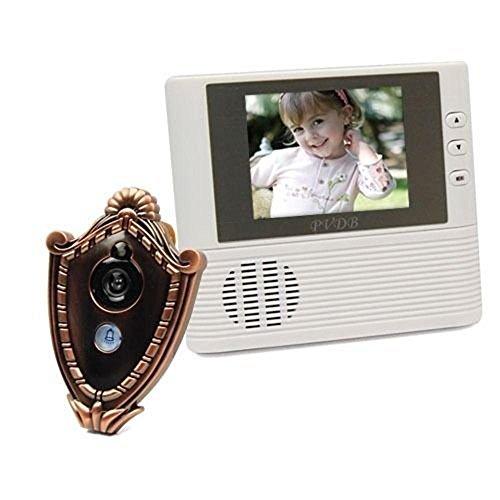 Preisvergleich Produktbild ugetde 7, 1 cm Elektronisches LCD-Video Türklingel mit Kamera Monitor fotografiert Bell Elektronische Visual Cat 's Eye Home Sicherheit,  gold