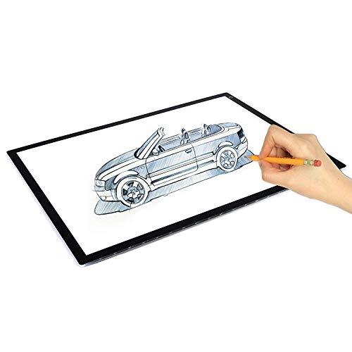 TANERDD A2 LED-Zeichenleuchte Box Board, Ultradünn dimmbar Helligkeitsverfolgung Tracer Artist Light Pad