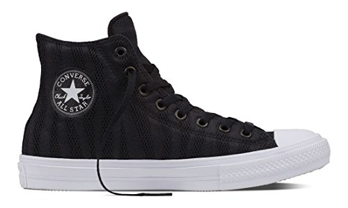 Converse Unisex-Erwachsene Chuck Taylor All Star Ii Hohe Sneaker Schwarz (Black/White/Gum)