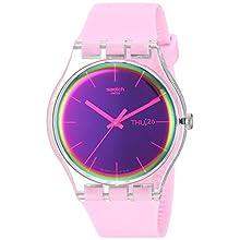 Swatch Womens Analogue Quartz Watch with Silicone Strap SUOK710