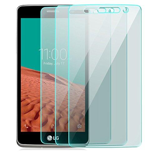 Saxonia 3 Stück Bildschirmschutz Folie kompatibel mit LG Bello 2 Bildschirmschutzfolie aus gehärtetem Glas Schutzglas Glasfolie Schutzfolie | HD Klar Transparent