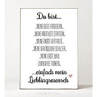Kunstdruck / Bild BESTE FREUNDIN -ungerahmt- Typografie, Geschenk