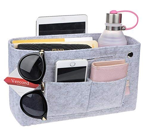 Vercord damen tragehandtasche pocket organisator teilers former beutel im beutel filzeinlage b-medium-licht grau (Licht Teiler)