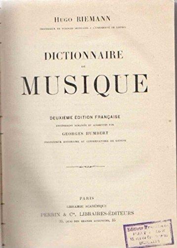 Dictionnaire de musique - deuxième édition française entièrement remaniée et augmentée par Georges Humbert