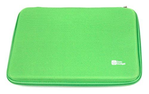 DURAGADGET Hartschalen-Etui mit Netzfach für das Aldi MEDION LIFETAB P10356 (MD 99632), E10311, S10345, Akoya E1234T sowie E10316 und E10312 Tablet (Grün)