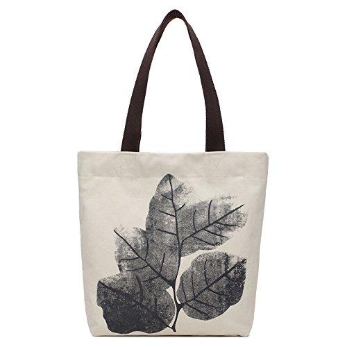 Mefly Alle-Match Canvas Tasche China Einfache Folk Style Schultertasche White