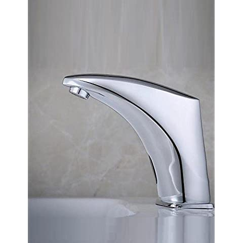 LONG-Centerset Mani libere Un foro in Cromo Lavandino rubinetto del bagno