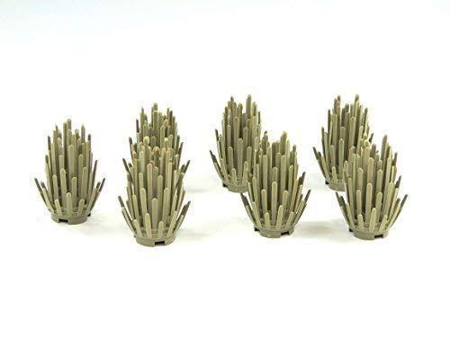 7x Custom Strauch tan Pflanze Busch Hecke Grünzeug für LEGO Landschaftsbau City (Sträucher Landschaftsbau)