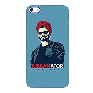 ColourCrust Apple iPhone 4S Mobile Phone Back Cover With TURBANator Quirky - Durable Matte Finish Hard Plastic Slim Case