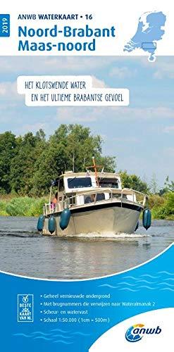 Waterkaart 16 Noord-Brabant 5 1:50 000: Wasserkarte: WATERKAART 16 NOORD-BRABANT/MAAS-NOORD 2019 por ANWB