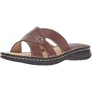 Adtec Women's 8560-BR Slide Sandal, Brown, 8 Medium US