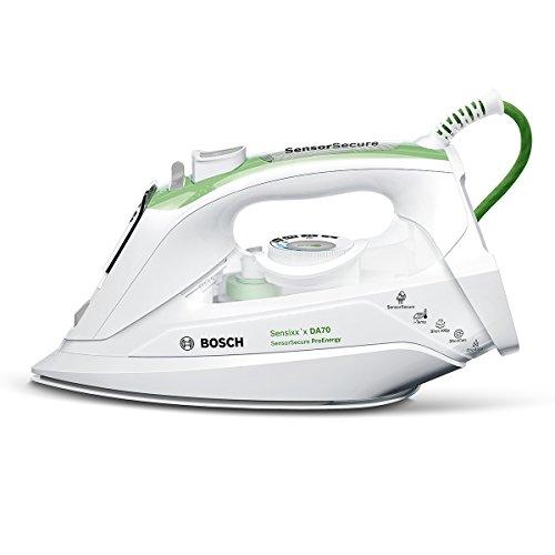 Bosch TDA702421E Dampfbügeleisen Sensixx`x ProEnergy (2400 Watt max., Dampfstoß 200 g/min., Dampfleistung 50 g/min.) weiß/gras grün