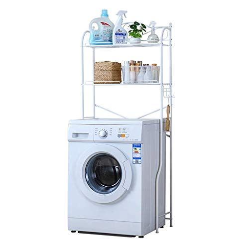 NINGGK Kohlenstoffstahl 2 Tier Badezimmer Regal, multifunktionale Lagerung dekorative platzsparende stehende Regaleinheiten -