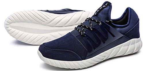 DADAWEN Chaussures de Running/Course Homme Bleu