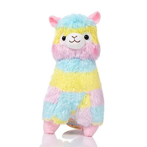 Ksell Regenbogen Alpaka Rainbow Plüschtier Klein/Groß weich gefüllte Kuschektier Puppe Spielzeug