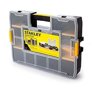 Stanley Werkzeug-Organizer Sortmaster (43 x 9 x 33 cm, Innenteiler anpassbar, bis zu 1024 Konfigurationen möglich, kein Verrutschen, Deckel verriegelbar) 1-94-745