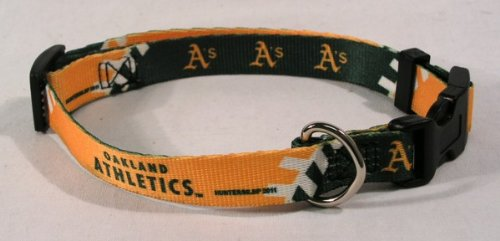 hunter-mfg-oakland-athletics-dog-collar-extra-small