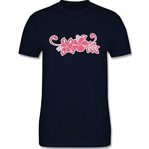 Blumen & Pflanzen - Blumen - Herren Premium T-Shirt Navy Blau