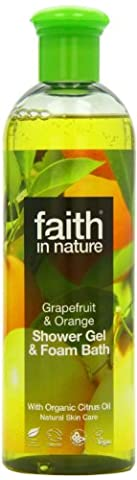 Faith In Nature Grapefruit & Orange Shower Gel & Foam Bath 400ml