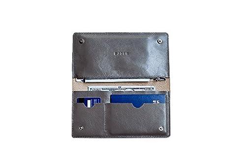 Portefeuille en cuir pour homme femme. Cas de voyage. Porte-voyage passport (Marble)
