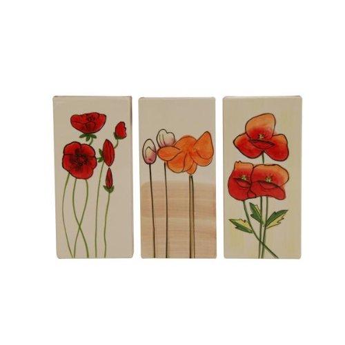 3 Stück KAMINO TREND (820629) - Heizungsverdunster, Heizkörperverdunster, Luftbefeuchter, verschiedene Motive (Mohnblumen)