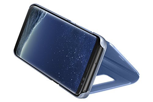 Samsung Clear View Cover, Funda para smartphone Samsung Galaxy S8, Azul (Gloss Blue)