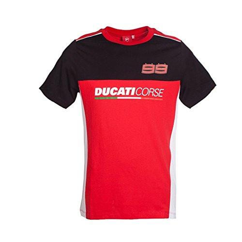 tee-shirt-ducati-jorge-lorenzo-99-motogp-officiel-homme-rouge-noir-taille-s