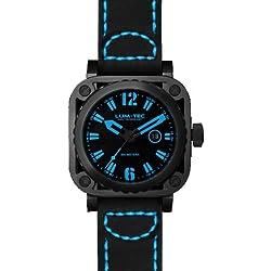 LUM-TEC G2 Men's Black/Blue Watch