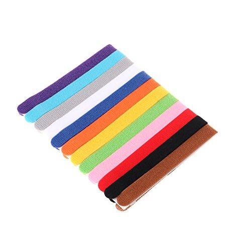 Contever Welpenhalsbänder, 12 Farbe Weich Einstellbar ID Halsbänder mit Klettband für Haustier, Hund, Katzen, Züchter