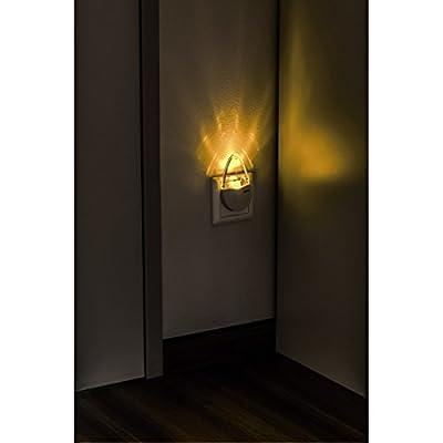 Hama LED Nachtlicht, stromsparendes Orientierungslicht und Stimmungslicht, Bernstein, Nachtlampe, nur 0,2 W, Eurostecker von Hama GmbH & Co KG bei Lampenhans.de