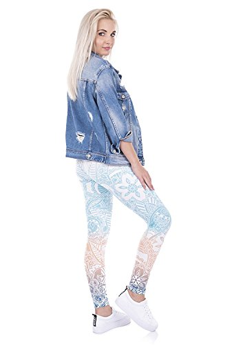 Alive Damen Leggings One size Mandala Mint