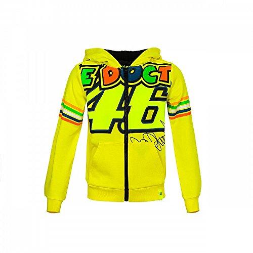 Valentino Rossi Vrkfl308001006, Felpa con Cappuciio e Cerniera Bambino Ragazzo, Yellow, 8-9 Years 81 cm/31In Chest