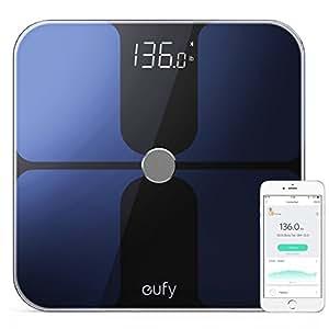 Eufy Smart Personenwaage mit Bluetooth 4.0, Bluetooth Digitale Körperwaage mit großem LED Display, Gewicht/Körperfettanteil/BMI/Fitness und Körperanalyse, kg/lb/st Einheit