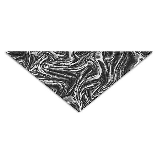 Wfispiy Cute Black Cool Wave PrintingDog Birthday Pet Bandana Collars for Dogs and Cats