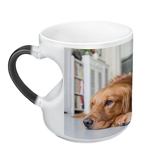 MoonLove Personalisierte Fototasse Schwarz Farbwechseleffekt Kaffeetasse Magische Fotos Tasse mit Thermoeffekt Cup Bedruckt mit Text und Bild individuell Kaffeebecher