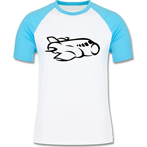Andere Fahrzeuge - Flugzeug - zweifarbiges Baseballshirt für Männer Weiß/Türkis