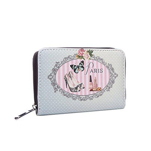 Preisvergleich Produktbild Vintage Damen Geldbörse Paris Portmonee Portemonnaie Geldbeutel Brieftasche