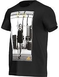 Adidas t-shirt pour homme avec logo golden rings