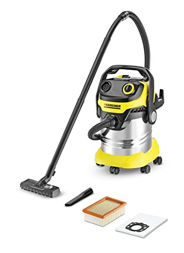 Karcher 13482300 Plastic Wet and Dry Vacuum Cleaner (Yellow and Black)