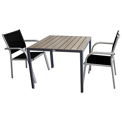 3tlg Balkonmobel Gartenmobel Bistro Set Sitzgruppe Gartentisch