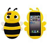 SKS Distribution VP-ZELX-VRHK Yellow Bumble Bee Soft Silicone Case for iPhone 5