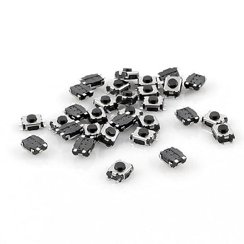 30Lot de 4mm x 3mm 4-Pin SMD SMT momentané bouton poussoir tactile Tact Switch