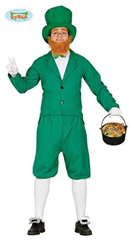 Leprechaun Kostüm Lucky - Grünes Leprechaun Kostüm für Herren St. Patricks Day M (48-50)
