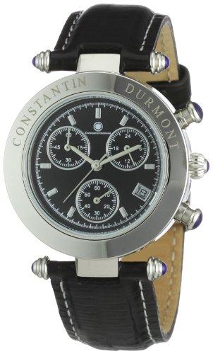 Constantin Durmont Women's Visage Watch CD-VISL-QZ-LT-STST-BK