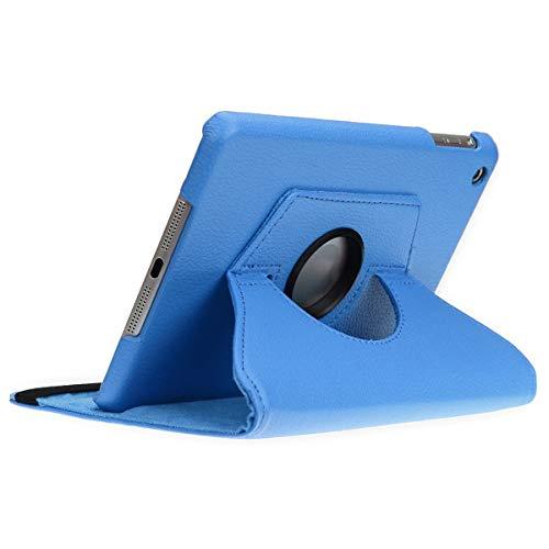 doupi Deluxe Schutzhülle für iPad Mini 1 2 3, Smart Case Sleep/Wake Funktion 360 Grad drehbar Schutz Hülle Ständer Cover Tasche, blau (Fall Ipad Mini 1)