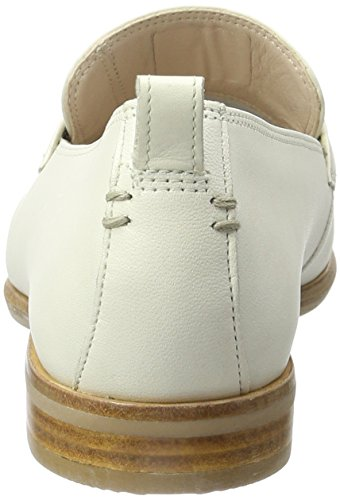 Clarks Alania Belle, Mocassini Donna Bianco (White Leather)