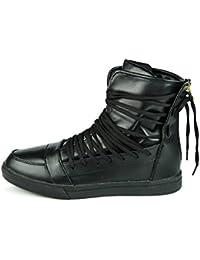 (Presente:peque?a toalla)Negro EU 38, Rojo Negro moda LED colores 7 Zapatos Blanco Hombres moda Li