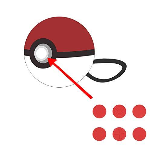 NIHAI Daumengriffe, für Nintendo Switch, 6 Stück, Silikon, für Nintendo Switch Controller, rot, as Show -