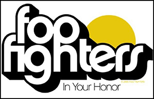 Foo Fighters Aufkleber Sticker Rock-Band Musik ca. 11x7,5 cm -